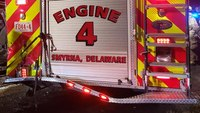 Woman injured after colliding with Del. fire apparatus