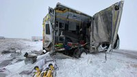 Colo. ambulance slammed by semi-truck