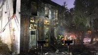 2 Pa. firefighters injured in house, shed fire
