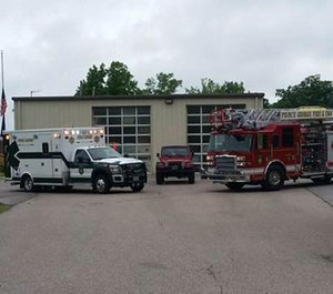 The county is working to drain the fuel from its emergency service vehicles and tanks with assistance from James River, but a timeline of when they will be operational is unclear.  (Photo/Prince George County Fire and EMS)