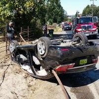 Calif. woman impaled in vehicle crash