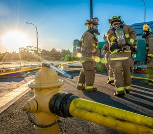 In 2016, sudden cardiac events (SCE) caused 39 percent of firefighter LODDs; over the past 10 years, SCEs were responsible for 42 percent of firefighter LODDs. Heat stress has been identified as a major factor in firefighter SCEs. (Photo/USAF)