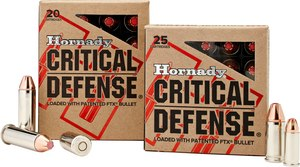 Hornady's Critical Defense 9mm comes in a 115-grain weight with patented Flex Tip technology.