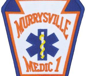 A Murrysville Medic One ambulance was struck in a hit-and-run on Friday, injuring one crewmember. (Photo/Murrysville Medic One Facebook)