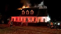3 Va. FFs injured when wall collapses at house fire