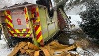 4 Va. FFs injured in apparatus rollover