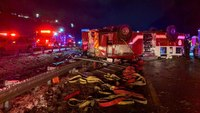 4 NC firefighters injured in apparatus rollover