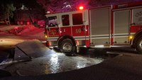 Sinkhole opens under Colo. engine at fire scene