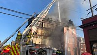 Watch: Nearly half of Pittsburgh commercial building collapses during 4-alarm blaze