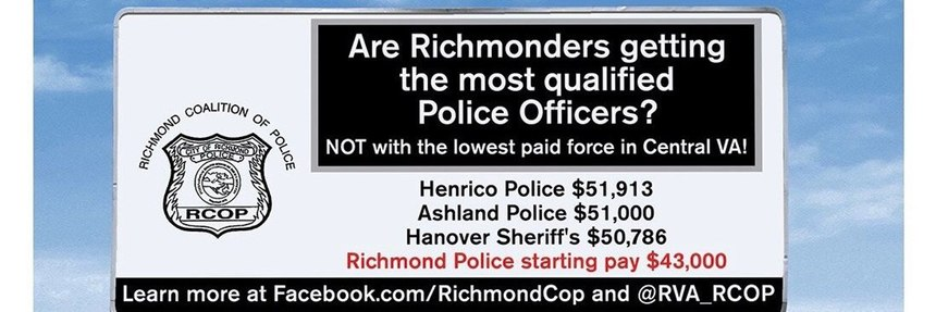 A billboard sponsored by the Richmond Coalition of Police seen in Richmond, Virginia.