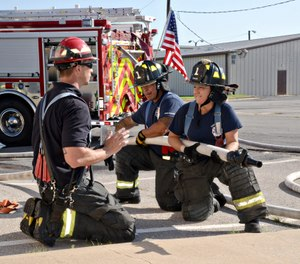 Fire departments should consider providing PPE options for their personnel that provide a better balance between protection and comfort when they respond to non-structural firefighting calls for service. (Photo/USAF)