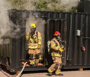 Firefighter training and education is one of the most important tools to enhance firefighter safety and avoid injury or line of duty deaths, but only if the firefighters have the ability to recall their training under stress, exhaustion and distraction. (U.S. Air Force photo by Airman 1st Class Rose Gudex)