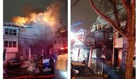 NJ firefighter injured battling fast-moving fire