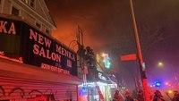7 FDNY firefighters injured at 4-alarm blaze