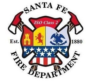The Santa Fe Fire Department reported that one of its brush trucks was destroyed and a ladder truck was heavily damaged in a suspected arson last week. (Photo/Santa Fe Fire Department Facebook)