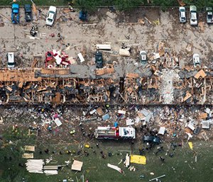 The community of 2,800 is working to move past the April 17, 2013 incident that killed 15 and caused $200 million in damage. (Photo/AP)