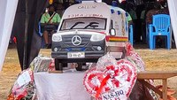 Video: Ghanaian EMT killed by robbers laid to rest in ambulance-shaped coffin