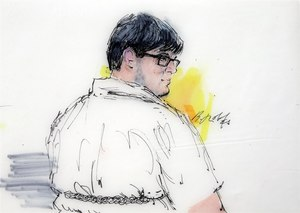 Enrique Marquez Jr. appears in federal court in Riverside, Calif. in this Dec. 21, 2015, courtroom file sketch. Image: AP Photo/Bill Robles
