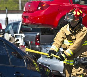 Streamline decision making with a systematic approach for sizing up a vehicle accident and developing a sound and dynamic extrication action plan. (Photo/USAF)