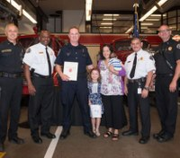 Officer honored after saving cardiac arrest victim at soccer game