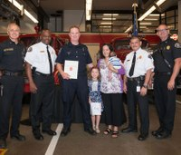 EMT-trained cop honored after saving cardiac arrest victim