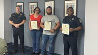 Pa. police officers, paramedic honored for saving crash victim while on vacation