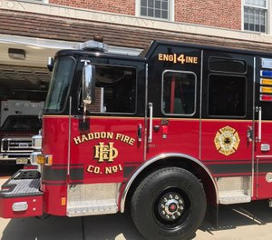 A Haddon Fire Company truck struck a pedestrian crossing the street on Sunday, causing serious injuries. The truck was detailed for a community service assignment at the time of the incident. (Photo/Haddon Fire Company No. 1 Facebook)