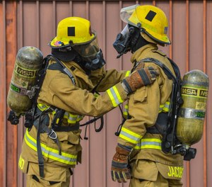 Several studies have shown that during interior firefighting operations there are many toxic substances and compounds present, particularly during the overhaul phase of those operations, that exceed ceiling values promulgated at the time by the American Conference of Governmental Industrial Hygienists or the National Institute for Occupational Safety and Health. (Photo/USAF)