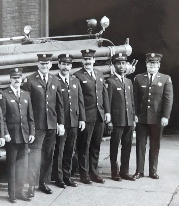 Erie Firefighter Willie Blakely (second from right) became the city's first Black firefighter in 1969.
