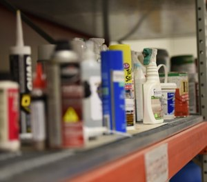 Household chemical items in storage. Chemical suicide, or detergent suicide, involves mixing common household chemicals to create deadly hydrogen sulfide (H2S) gas. (Photo/U.S. Air Force by Senior Airman Michella Stowers)