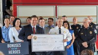 Fla. governor announces first responders will receive $1K bonuses this summer