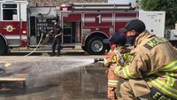 Photo of the Week: Boy, 4, with cancer becomes fire chief for a day