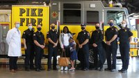 Watch: Girl, 6, who survived shooting reunites with EMS providers