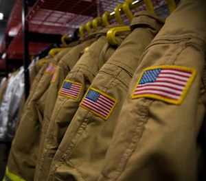 NFP 1851: Standard on Selection, Care, and Maintenance of Protective Ensembles for Structural Fire Fighting, specifies that a fire department conduct a risk assessment before selecting PPE for its people. (Photo/U.S. Air Force by Senior Airman Tessa B. Corrick)