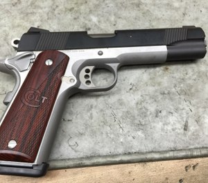 This Colt 1911 is ready for the streets and would make an excellent law enforcement weapon. (Photo/Mike Wood)