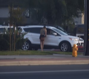 An undercover Anaheim PD officer is solicited by a driver during a 'John sting.' (Steven Georges/Behind the Badge)