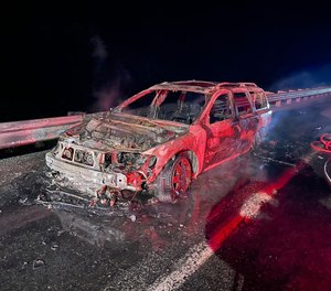 As firefighters were working to keep the fire from spreading into brush, aChelan Countydeputy saw 41-year-oldTimothy Vincent Ellisclimb into the district's pickup and had his hand on the gear shift when the deputy began pulling him out of the truck, according to a probable cause affidavit filed inChelan County Superior Court.