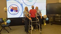 Hit-and-run victim reunites with responding paramedics