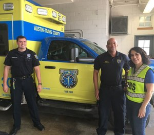 Texas Republican Elianor Vessali, who is running for U.S. Congress, participated in a ride-along with Austin-Travis County EMS providers and vowed to join the Congressional EMS Caucus if she is elected. (Photo/Association of Texas EMS Professionals)