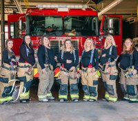 Photos: 7 firefighters' wives in NC department expecting