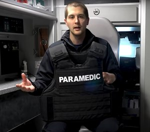 Sam Boyer-Groff, host of the PrepMedic channel on YouTube, appreciates the bullet, strike and slash protection provided by the Tactical Enhanced Multi-Threat Vest from Safe Life Defense, and he says the fit allows him to move and tend to patients more easily than other vests.