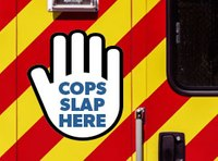 Agency's 'Cops Slap Here' sticker solves major EMS problem