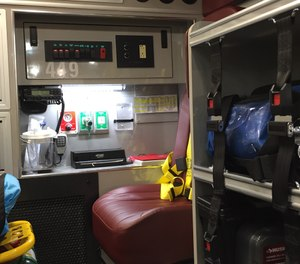 The EMS radio report to the hospital needs to be organized, clear, concise. (photo/Greg Friese)