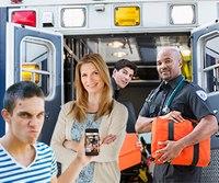 Ungrateful teen meets paramedics that delivered him