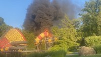 Fire engulfs NJ 'High Anxiety' waterpark slide