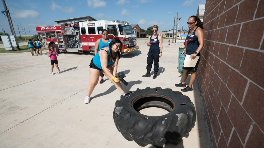 """The """"Hero Like Her"""" program is as much about building relationships as it is recruitment of future firefighters, an SAFD spokesperson said."""