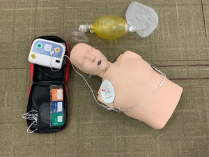 Set up CPR and AED practice equipment for student success
