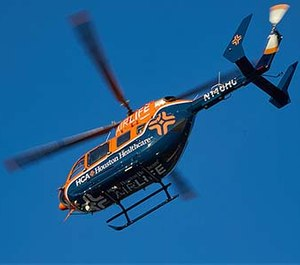 HCA Houston Healthcare unveiled its new AIRLife air ambulance program Friday. The first AIRLife helicopter will be based at The Woman's Hospital of Texas.