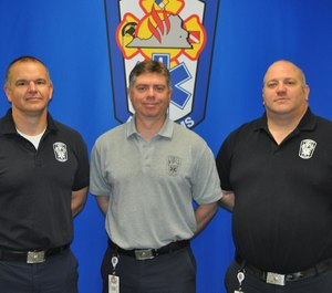 Mobile Integrated Healthcare is a three-person unit of the Chesterfield Fire and EMS Department that manages the patient cases referred to the unit by CFEMS personnel and a variety of external resources. From left: Firefighter/Paramedic Wayland Hudgins, Unit Manager Lieutenant Dan Stamp and Firefighter/Paramedic Colin McCann.