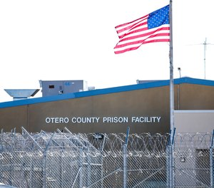 The privately-managed Otero County Prison Facility in Chaparral, N.M., is seen on Thursday, Jan. 23, 2020. Some of the state's privately run prisons are raising concerns with the inmate population reduction.